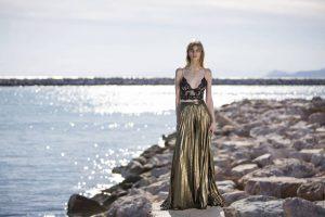 Long gold dress