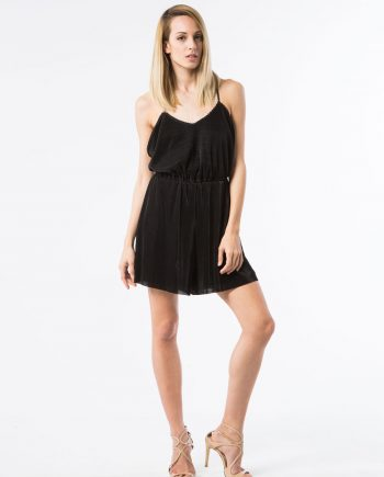 Our model dressed in Chloe Pleated Playsuit