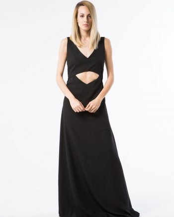 Our model in Berenice Maxi Dress Front